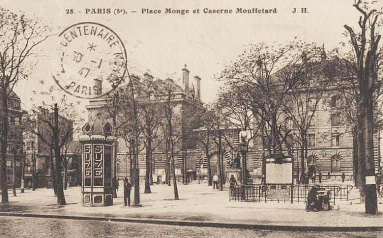 Place Monge, vers 1910