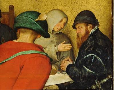 "Bruegel l'Ancien, ""Le repas de noces"", 1568 (détail)"