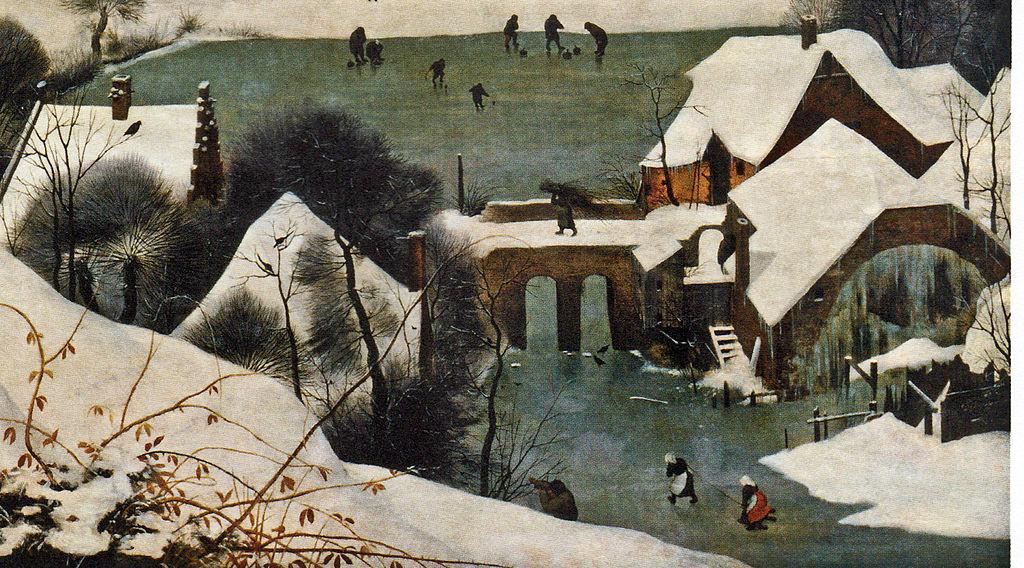 """""""Les chasseurs dans la neige"""" (détail)"""