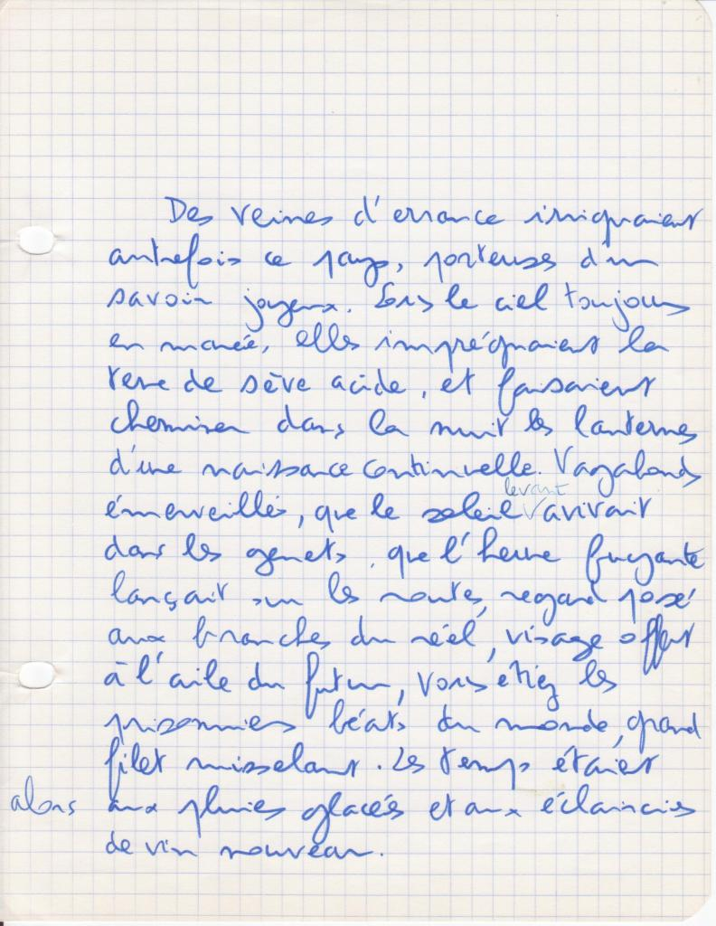 Poème, 1976
