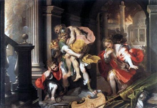 """Federico Barocci, """"Enée quittant Troie"""" (1598)"""