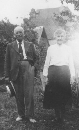 Le grand-père et la grand-mère, Saint-Chamant, Corrèze, 1943