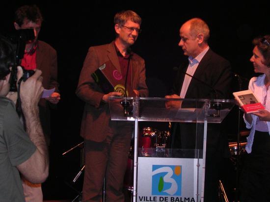 24/04/2009, Prix littéraire de la ville de Balma (31), avec Alain Fillola, maire