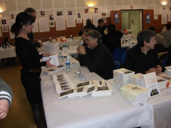 17/01/2010, Salon du livre d'hiver, Montgiscard (31), avec Marie-Pierre Pawlak