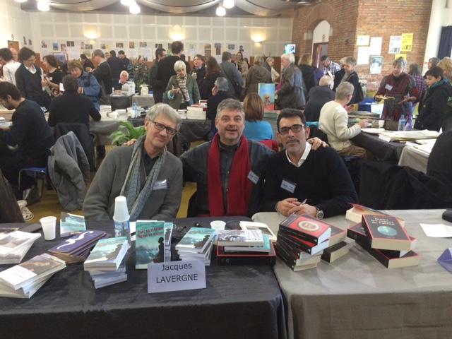 17/01/2016, Salon du livre d'hiver, Montgiscard (31), avec J. Lavergne et Victor del Arbol