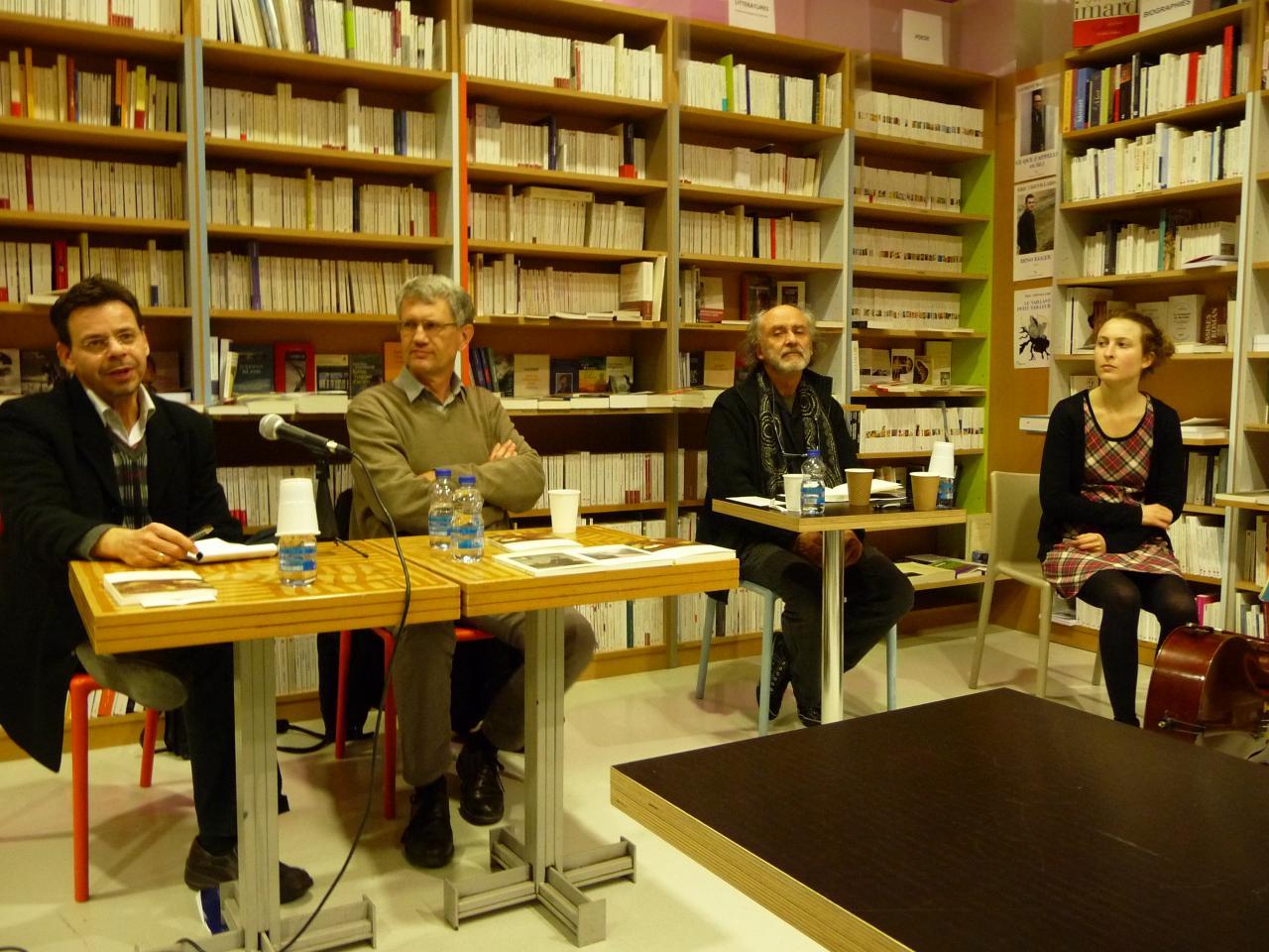 06/12/2011, Librairie Etudes, Toulouse (avec Patrick Marot, Yves Gourmelon, Oriane Fohr)