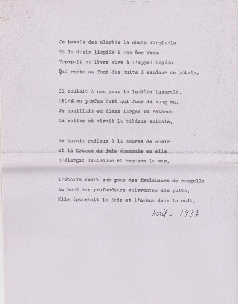 Poème, 1937